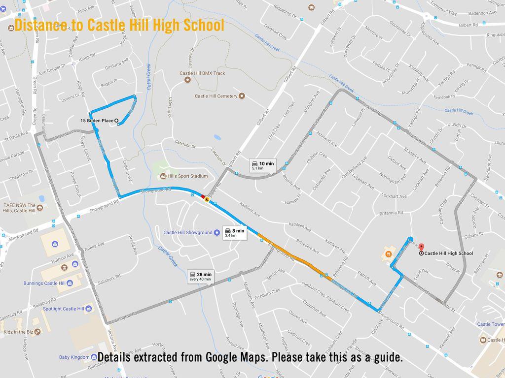 Map Australia 4074.House Sold 15 Boden Place Castle Hill